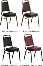 POKER TABLE CHAIRS SET OF 10 VINYL PADDED STACKABLE