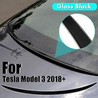 For Tesla Model 3 18-19 Gloss Black Trunk Spoiler Cover Water Retaining Wing