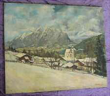 Altes Ölgemälde Garmisch Ammerseemaler August Backmund 1926