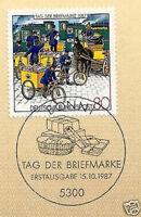 BRD 1987: Tag der Briefmarke Nr. 1337 mit Bonner Ersttags-Sonderstempel! 1A 1702