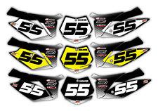 Motocross KTM 125 Up Backgrounds Graphics 2011 -2012 Custom Decals