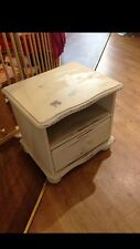 Solid Pine Bedside Table Hand Painted Cream Shabby Chic LU7 Collection
