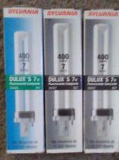Lot of 3 Sylvania Dulux S 7W Compact Fluorescent Bulb 10,000 Hr 400 Lumens