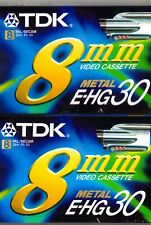 TDK 8mm EHG 30  2 x Video Cassettes New And Sealed