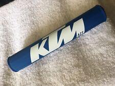 KTM 125 250 400 420 495 500 NOS Vintage Crossbar Pad Blue White NEW!