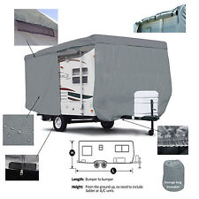 Deluxe Starcraft AR One 14RB Travel Trailer Camper Cover W/ Zipper Access