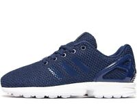 Adidas Originals ZX Flux ® (Size UK 5.5 EUR 38.5 ) Blue Knit Upper Latest NEW