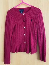 girl Lauren Polo Cable Knit Cotton Jumper Age 5