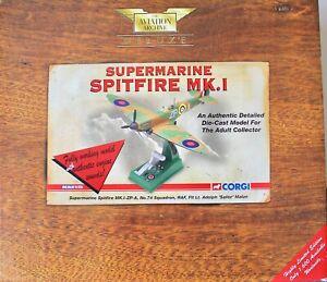Corgi 1:32 Scale Supermarine Spitfire MK. I ZP-A Deluxe Ltd Ed Working Model.