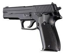 Hogue 26176 SIG Sauer P226 DA/SA Checkered Aluminum Grips Brushed Gloss Black