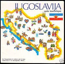 Touristenkarte, Jugoslawien, 1982