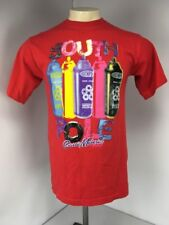 VTG 90s Southpole Spray Paint Red Neon Classic Material Since 1991 S/S T-shirt L