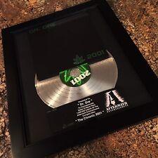 Dr Dre The Chronic 2001 Platinum Record Disc Album Music Award MTV Grammy RIAA