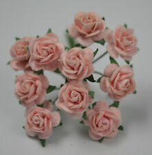 50 PEACH PINK ROSE (1.5cm) Mulberry Paper for weddings crafts cardmaking