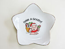 """Vintage 1981 Ziggy Star Shaped 7"""" Porcelain Christmas Plate """"Have A Goody!"""""""