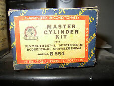 MASTER CYLINDER KIT 1937 38 39 40 41 PLYMOUTH DE SOTO 37-1940 DODGE CHRYSLER NOS
