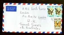 Kenya 1992 Butterflys On Airmail Cover To London #C463