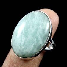 925 Sterling Silver Amazonite Wonderful Ring Jewellery Size-9 FSJ1125