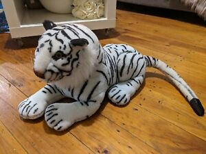 Large Vintage White Tiger Plush Toy Collectable 68ish cm Realistic