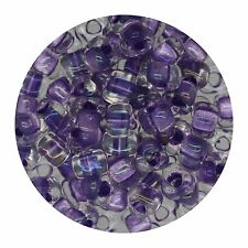 Japanese Glass Triangle Bead 5/0 Amethyst Lined Crystal