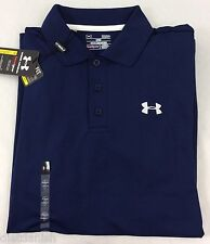 Under Armour MEN'S Athletic Golf Polo Loose Heat Gear Navy Blue Size S