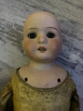 Antique German Wiefel & Company Bisque Doll With Open Mouth All Original