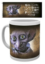 Harry Potter Dobby 10oz Ceramic Mug Hogwarts Slytherin Crests