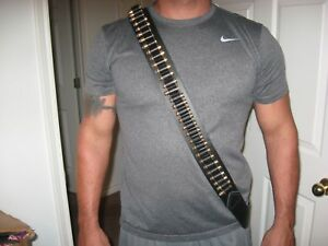 Bandolier Handmade Leather Ammo Bandolier w/ 54 Ammo Loops Made in TEXAS
