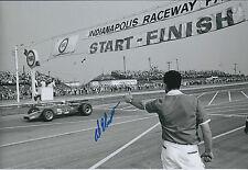 Al UNSER Indianapolis Raceway Winner SIGNED Racing Legend 12x8 Photo AFTAL COA