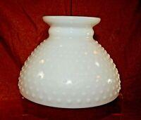 """Vintage Milk Glass Globe Shade White Hobnail Light Lamp Shade 8"""" fitter"""