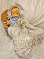 "Vintage 1931 Horsman Beautiful Baby Buttercup doll wee 15"" Gorgeous Dress Cries"