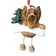 E&S Pets Dangling Legs Christmas Ornament NEW Dog YORKIE TERRIER Holiday