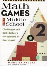 Math Games for Middle School: Challenges and Skill-Builders for-ExLibrary