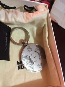 MONTBLANC key holder used condition / with box and paperwork + lapel pin