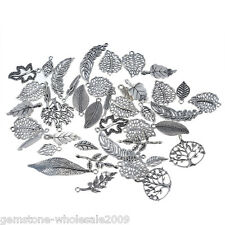 20PCS Wholesale W09  Mixed Leaf Shape Pendants  Charm Jewelry