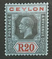 MOMEN: CEYLON SG #357 1924 SCRIPT MINT OG H LOT #193108-1596