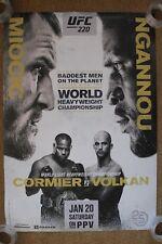 Official UFC 220 Miocic vs Ngannou Poster 27x39 (Near Mint)
