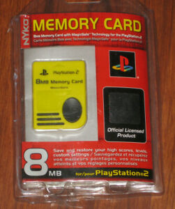 NEW! Nyko Official Licensed by Sony PlayStation 2 PS2 8MB MagicGate Memory Card