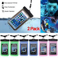 2 Packs Swimming Underwater Pouch Bag Pack Waterproof Dry Case for Smart Phone