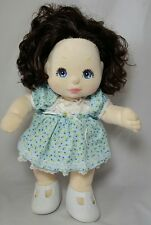 Mattel MY CHILD Doll Brown Black Brunette Hair Blue Eyes 1985 Original Clothes