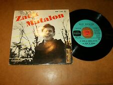 ZACK MATALON - EP FRENCH COLUMBIA 1165  / LISTEN - JAZZ FRENCH POPCORN