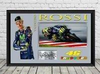Valentino Rossi Signed Photo Print Autographed Moto GP Memorabilia