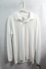 New Boys Izod Long Sleeve White Polo Shirt Size XL 18/20