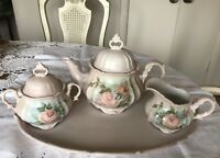 Vintage Schumann Bavaria-Arzberg Germany-Rose Blush Porcelain Tee/ Coffee Set