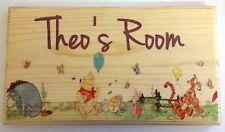 Large Personalised Winnie The Pooh Plaque / Sign - Bedroom Door Eeyore Baby
