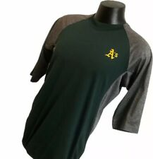Majestic Oakland As Shirt Size Large Green Gray Thermabase Pullover Baseball Mlb