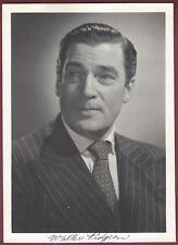 """Walter Pidgeon, Actor, Vintage 5"""" x 7"""" Studio Card, Facsimile Signature"""