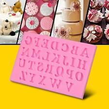 Outil de Décoration Alphabet Lettre Plateaux Silicone Moule à Chocolat Gâteau EH