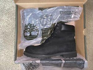 Size 10.5 - Timberland 6 Inch Black Nubuck Premium Boots (Read Description)