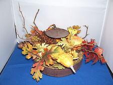 Centerpiece 12 inch Autumn Fall Thanksgiving Artificial Fits Pillar Candle 4
